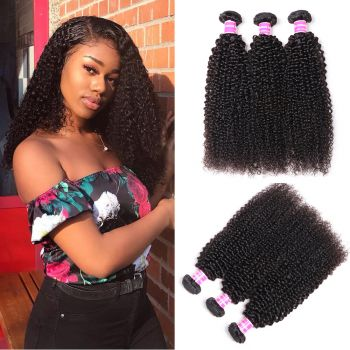 Donmily Kinky Curly Hair Virgin Hair 3 Bundles Deals