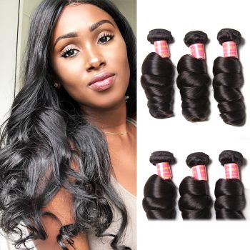 Donmily Peruvian Loose Wave Human Virgin Hair 3 Bundles