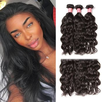 Malaysian 3 Bundles Natural Wave Virgin Human Hair
