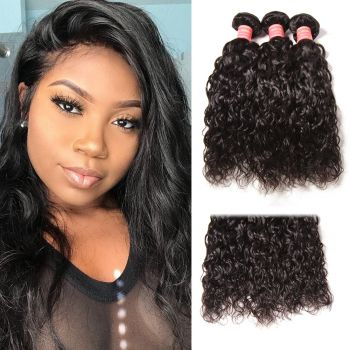 Peruvian Water Wave Human Hair 3 Bundles Natural Color