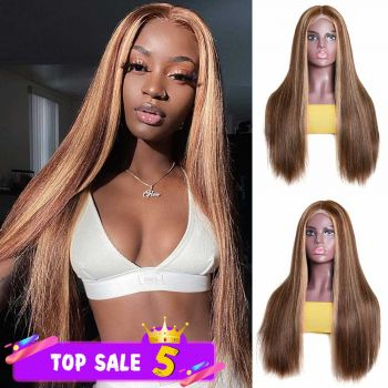 4*4 lace wig highlight color ombre wig