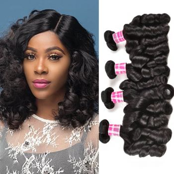 Donmily 4 Bundles Double Drawn Funmi Curly Virgin Human Hair