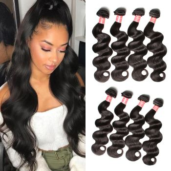 4 Bundles Brazilian Body Wave Weave Virgin Human Hair