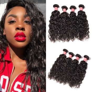 Donmily 4 Bundles  Water Wave Human Hair