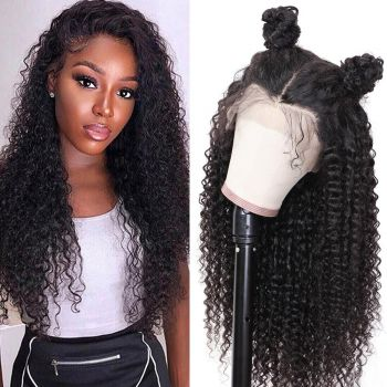 Donmily Brazilian  Jerry Curly 360 Lace Frontal Wig 180 density
