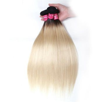 Donmily 1 Bundle Ombre T1B/613 Straight Hair Weave