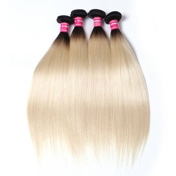 Donmily 4 Bundles T1B613 Colored Straight Virgin Hair