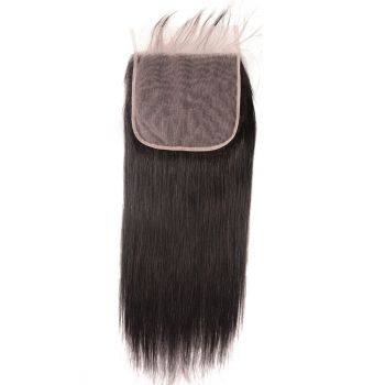 Donmily New 7x7 Inch Lace Closure Silky Straight Virgin Hair 1 Piece