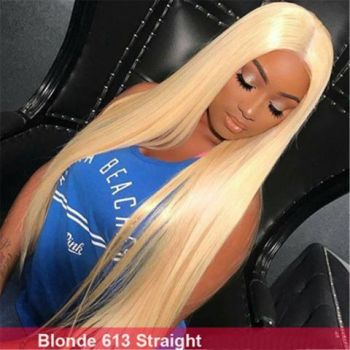 Best Blond 613# Straight Full Lace Wig Hand Woven Pre Plucked No Chemical Process-Donmily