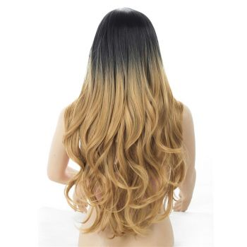 Ombre T1b/27 Body Wave Synthetic Wigs, Long Synthetic Wig Body Wave.