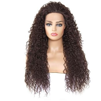 Donmily Long Curly  Synthetic Lace Front Wig Color 4#