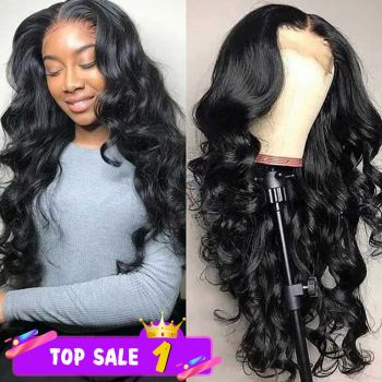 Donmily 13x4 Body Wave Lace Frontal Wig With Baby Hair 150% Density