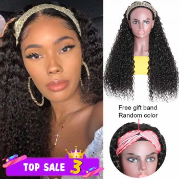 Headband wig Curly 150% Density