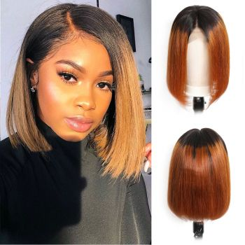 Donmily fashion straight BoB wig color T1B30 13*4 lace front wig 130% 150% 180% virgin human hair