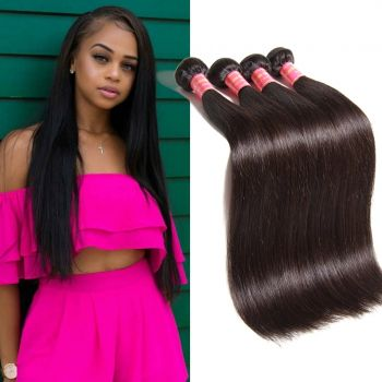 Brazilian 4 Bundles Straight Virgin Hair