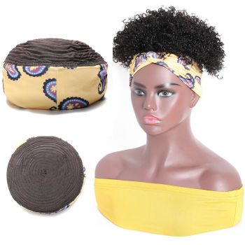 Wrap Wigs Short Kinky Curly Headband Wigs