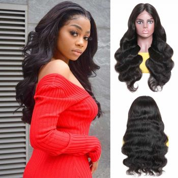 4*4 lace body wave wig 150% density