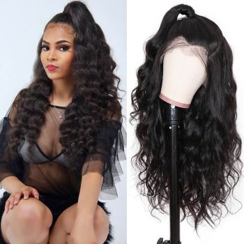 Body Wave 13*4 Transparent Lace Front Wig 180% Density