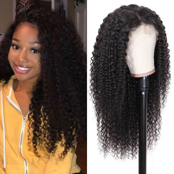Jerry Curly 13x4 Transparent Lace Front Wig 180% Density