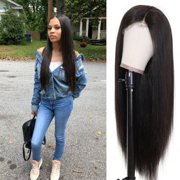 Donmily Straight 13x4 Transparent Lace Front Wig 180% Density