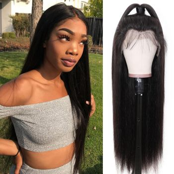 Donmily Straight Hair 13x6 Transparent Lace Front Wig 180% Density