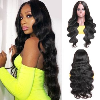 "U Part Body Wave Wig 4""*2"" Middle Part Wigs"