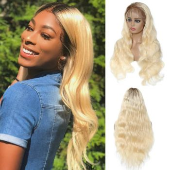 Body Wave 13*4 Lace Front Wig Color T4613 150% Density