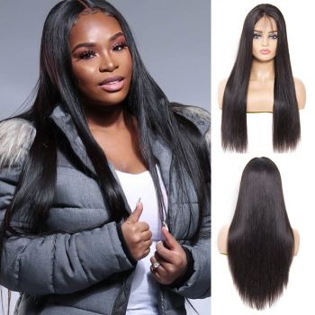 Straight 13*4 Lace Frontal Wig 130% Density
