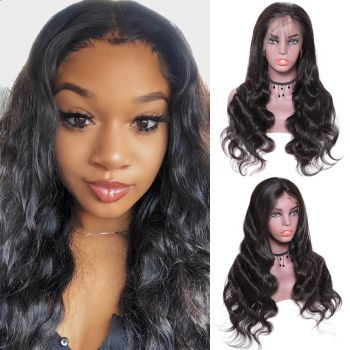13x4 Body Wave 130% Density Lace Front Wig with Baby Hair