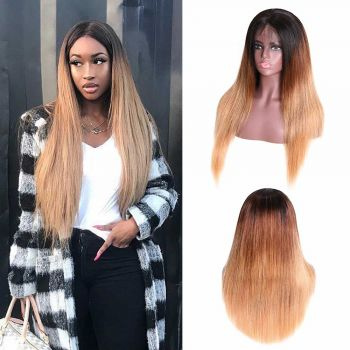 Donmily Straight 13x4 Lace Front Wig 150 Density Color T427