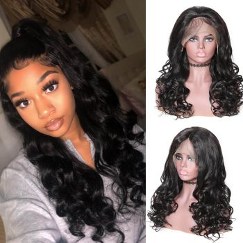 Donmily Natural Wave 360 Lace Wig 180% Density
