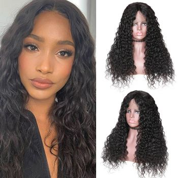 360 Lace Wig Water Wave 180% Natural Color