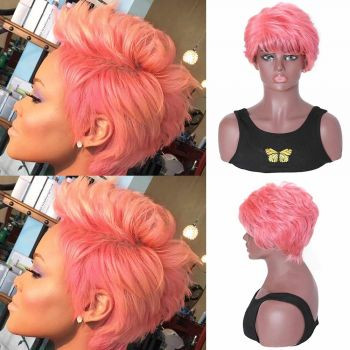 Short BoB Pink Machine Made