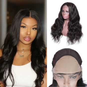 Donmily Body Wave 13x4 &13X6 Lace Fake Scalp Wigs 150 Density