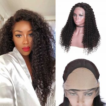 Jerry Curly 13x4 &13X6 Lace Fake Scalp Wigs 150 Density