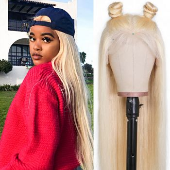 613 13x6 Lace Front Straight Virgin Blond Hair