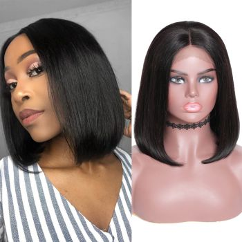 Bomb Affordable Silky Straight Bob Wig 13*6 Lace Front 150% Density