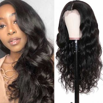 body wave transparent 13 4 lace front wig