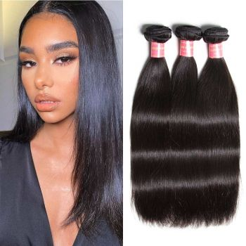 Donmily Brazilian Straight Human Hair 3 Bundles