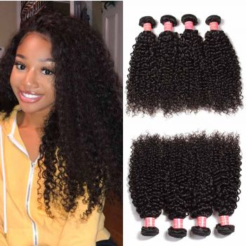 Donmily Brazilian Curly Hair 4 Bundles