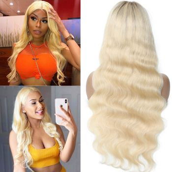 Donmily Brazilian full lace wig body wave hair color T4613 150% 180% Density 100% virgin human hair