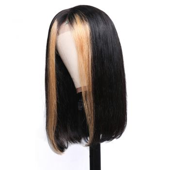 13x4 Straight Hair Lace Front Wig 130% Density With TL1B27 Color