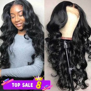 Donmily 13 4 lace front wig body wave  baby hair