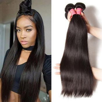 Donmily Malaysian Straight Hair 4 Pcs/lot, No Shedding and Tangle Free, can be dyed and bleached