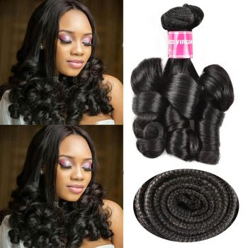 Donmily 1 Bundle Double Drawn Funmi Curly Virgin Human Hair