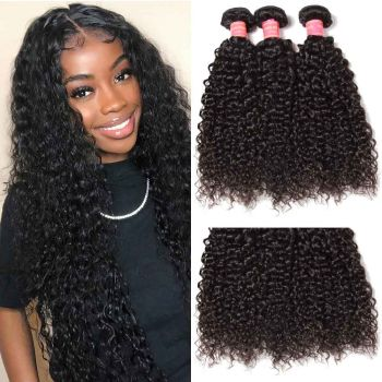 Donmily Malaysian Curly Hair 3 Bundles Virgin Hair