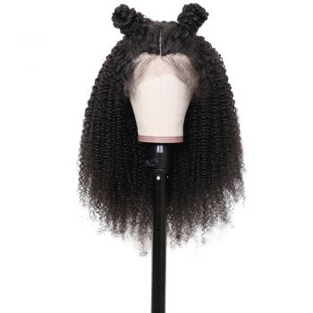 This Looks So Natural Affordable Donmily Kinky Curly 13*6 Lace Front Wig 150% Density