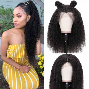 Donmily Kinky Curly 13x6 Lace Front Wig 150% Density