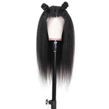 Donmily Kinky Straight 13x6 Pre-plucked Lace Front Wig 150% Density