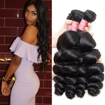 Brazilian 3 Bundle Deals Loose Wave Human Virgin Hair